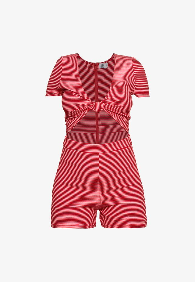 LULU PLAYSUIT - Haalari - white/red