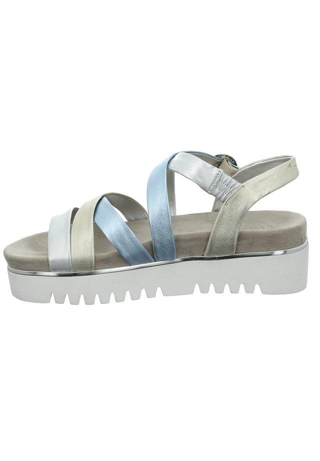Platform sandals - silber-multi