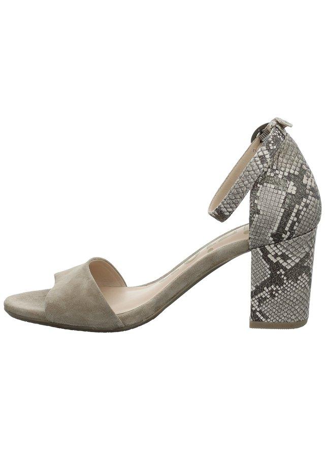 TIZIAN LA SPEZIA 02 - Platform heels - taupe-kombi