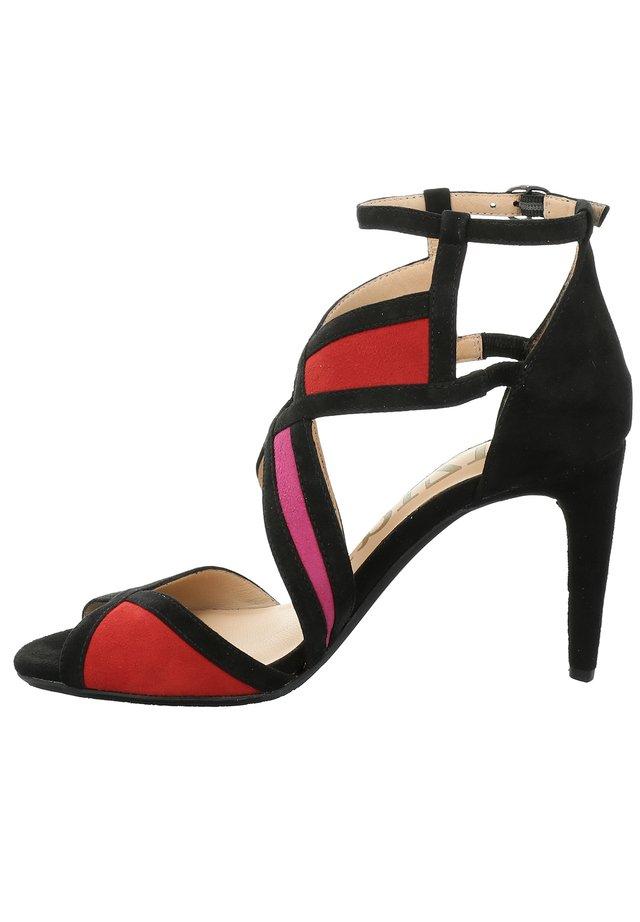 AUSTIN 05 - Peeptoe heels - schwarz-multi