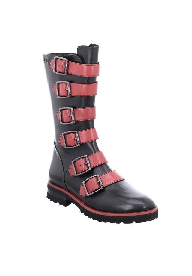 DALLAS  - Boots - schwarz-rot