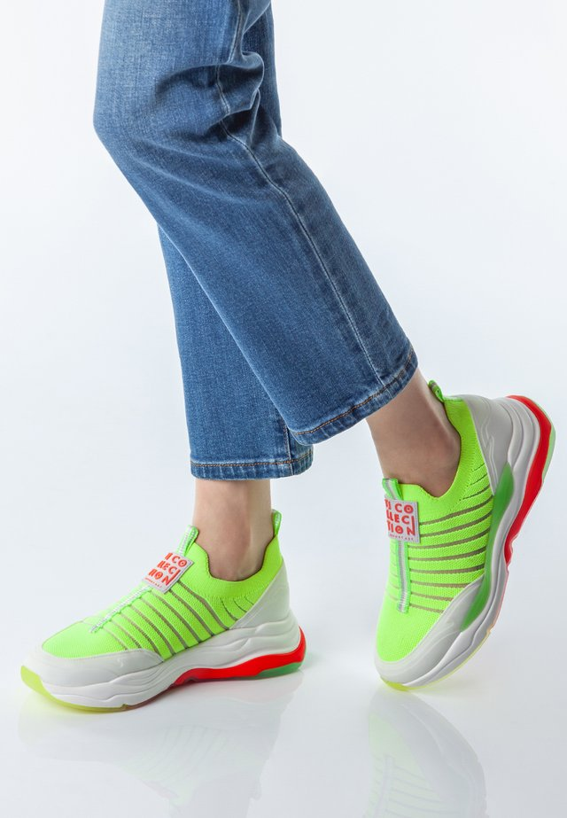 RAINBOW  - Trainers - neon yellow