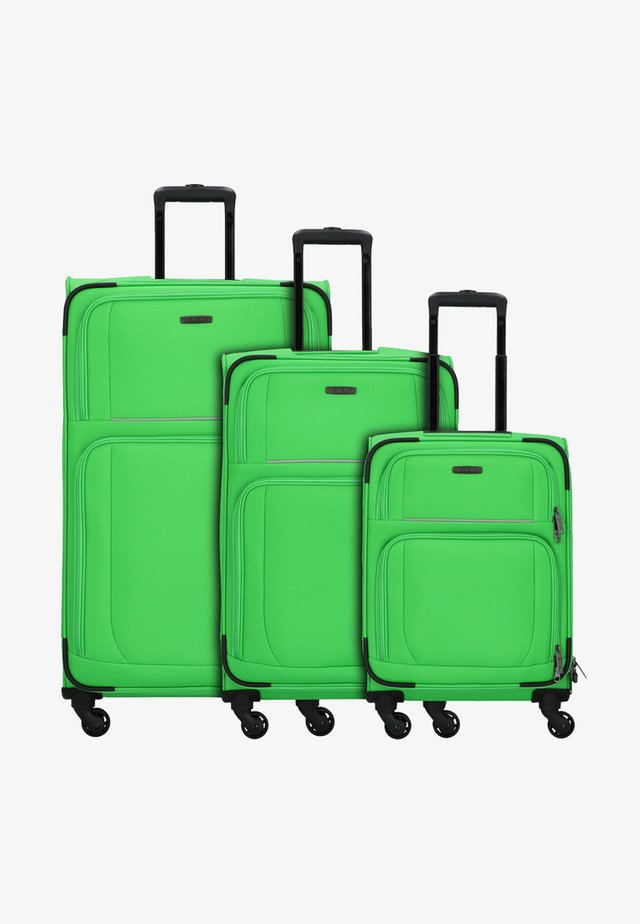 3  PACK - Luggage set - apple green grey
