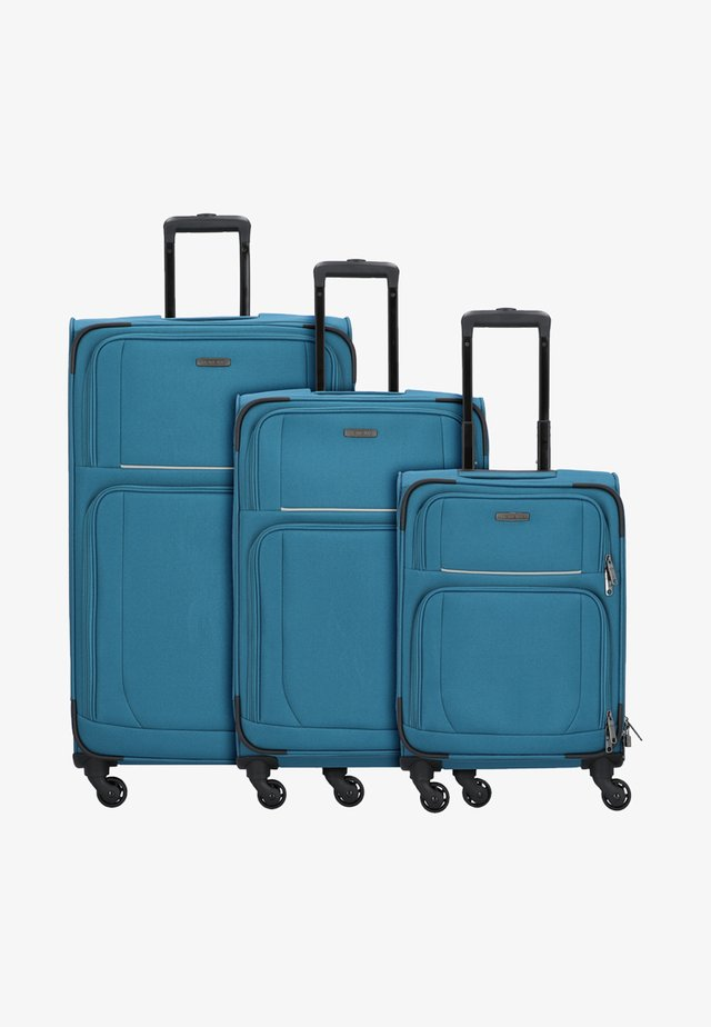 3  PACK - Luggage set - teal