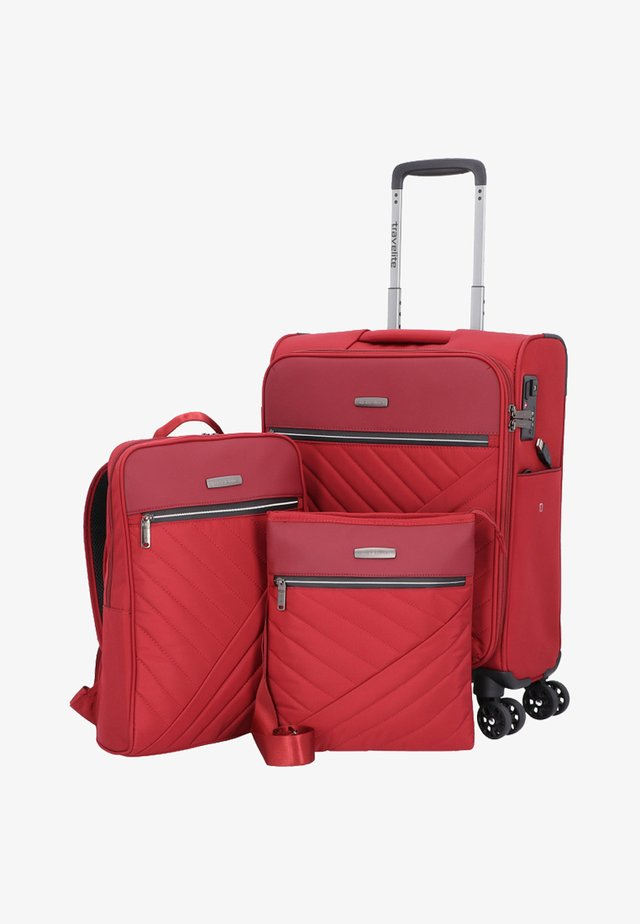 SET 3 TLG - Luggage set - red