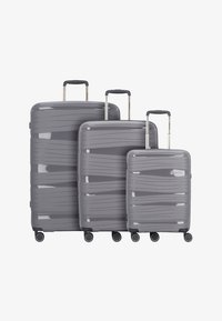 Travelite - KOFFERSET 3 TLG - Luggage set - anthracite - 0