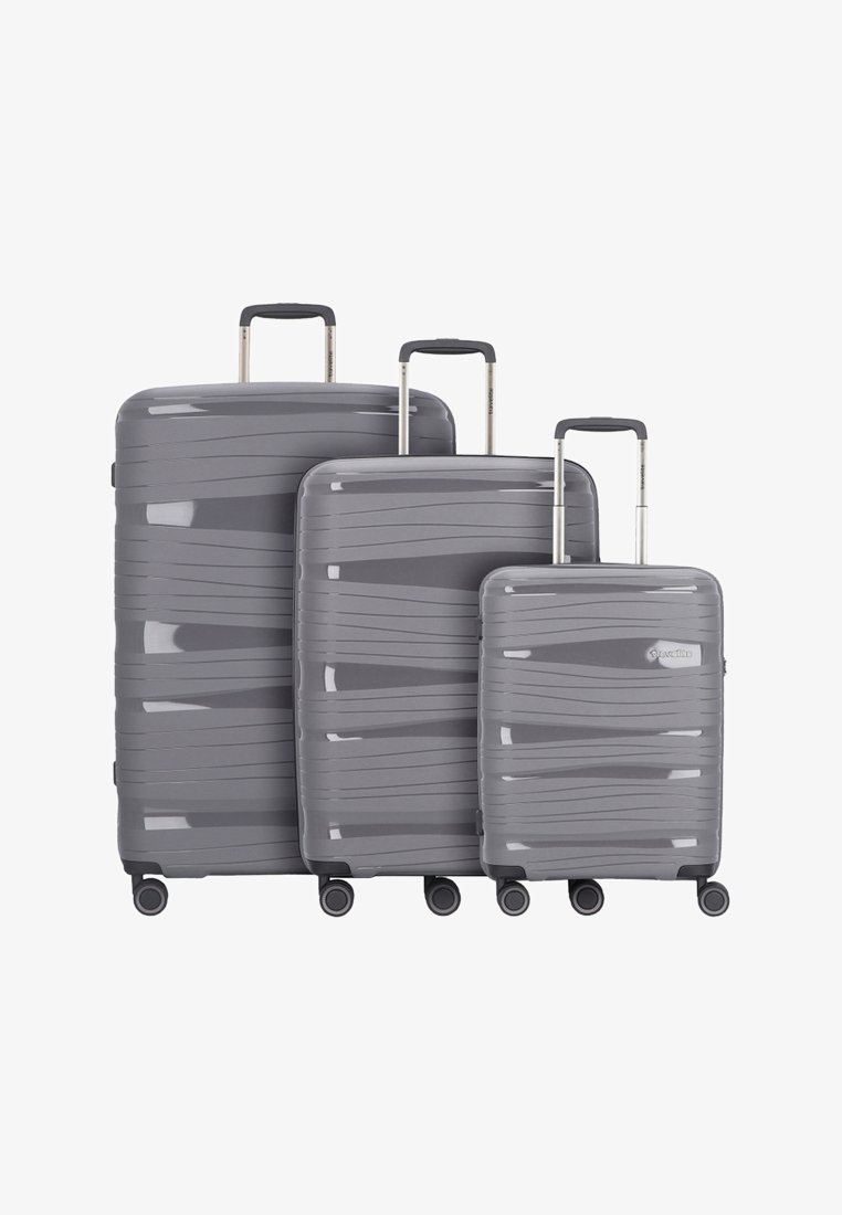 Travelite - KOFFERSET 3 TLG - Luggage set - anthracite