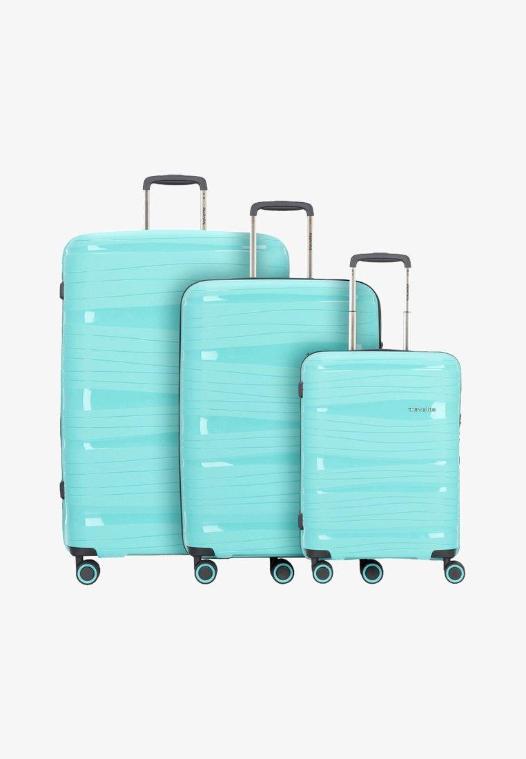 Travelite - KOFFERSET 3 TLG - Luggage set - turquoise