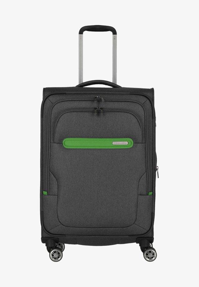 MADEIRA - Wheeled suitcase - anthracite/green