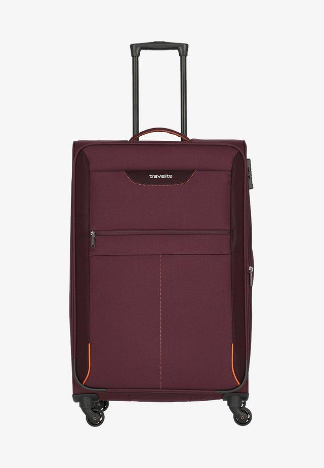 Wheeled suitcase - aubergine