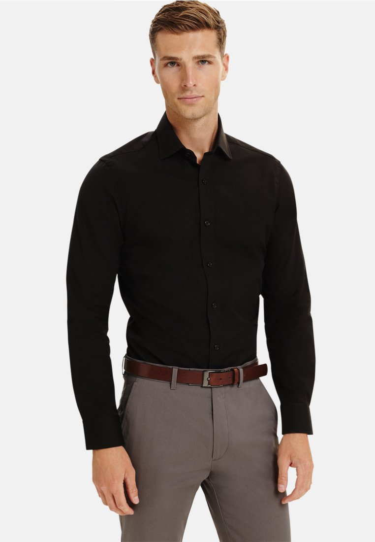 T.M.Lewin - FITTED - Formal shirt - black