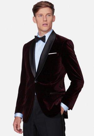 SLIM FIT VOLANTE - Blazer jacket - burgundy
