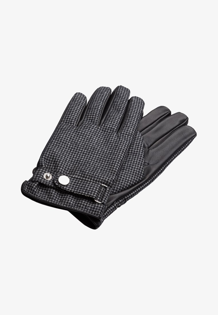 T.M.Lewin - HOUNDSTOOTH BARBERIS  - Gloves - grey/charcoal