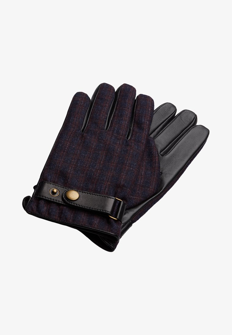 T.M.Lewin - HOUNDSTOOTH BARBERIS - Gloves - burgundy