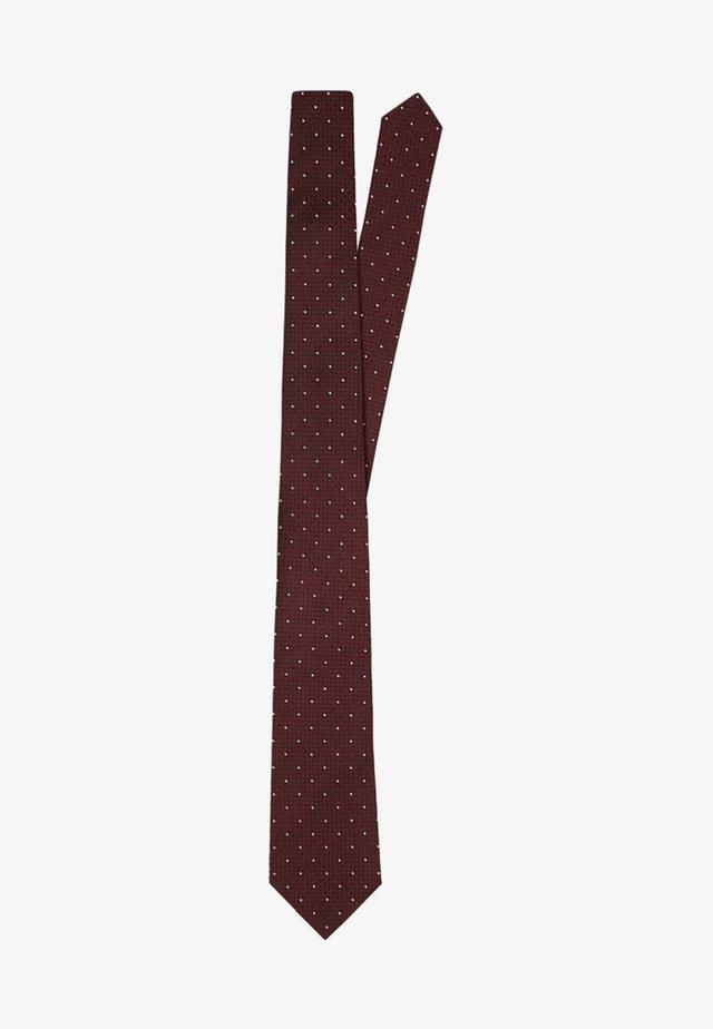 SLIM - Tie - burgundy