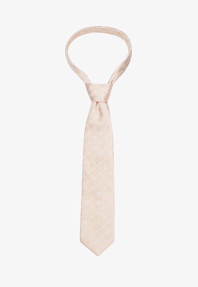 WIDE FLEUR DE LYS SILK  - Tie - beige