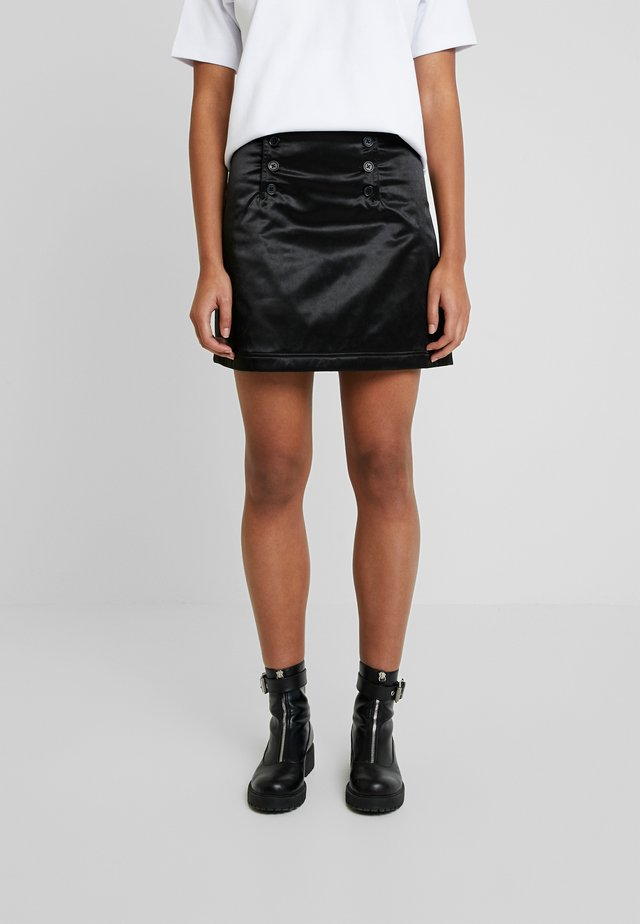 WHALE - A-line skirt - black