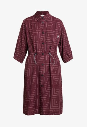 CRATER - Skjortklänning - berry