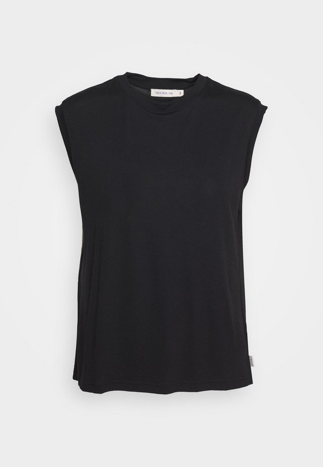 DECULA - T-shirt - bas - black