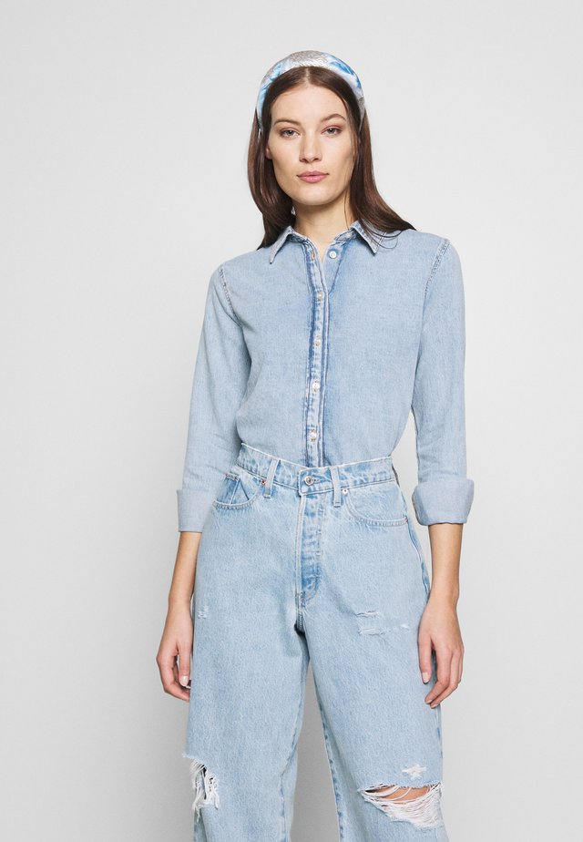 VISH - Button-down blouse - light blue