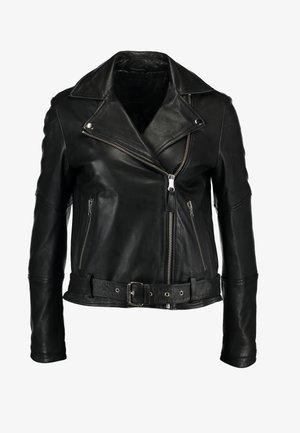 CATY - Veste en cuir - black