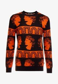 Tiger of Sweden Jeans - PIERRE  - Stickad tröja - black/orange - 4