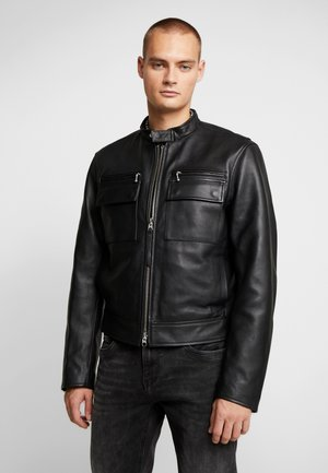 LUKE - Leather jacket - black