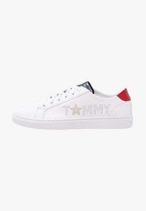 TOMMY STAR METALLIC SNEAKER - Sneakers basse - white