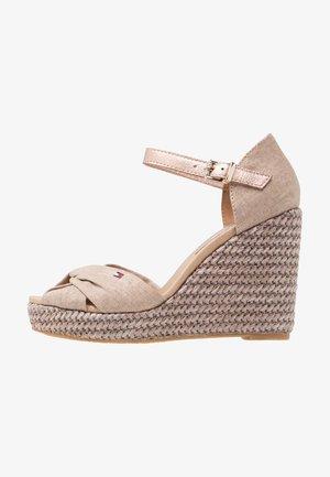 ICONIC ELENA METALLIC  - Højhælede sandaletter / Højhælede sandaler - beige