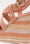 Tommy Hilfiger - RAFFIA WEDGE  - High heeled sandals - beige