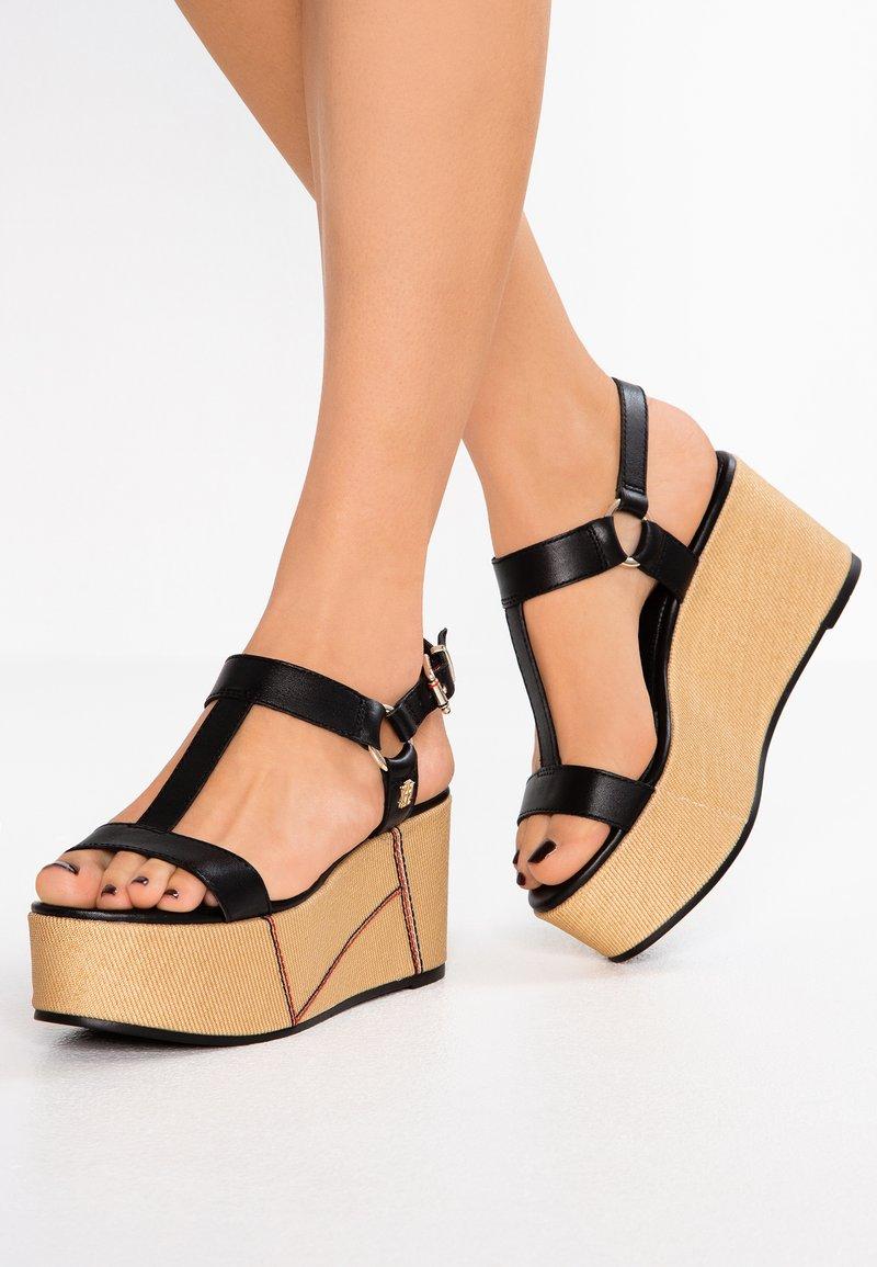 Tommy Hilfiger - ELEVATED FLATFORM - High Heel Sandalette - black