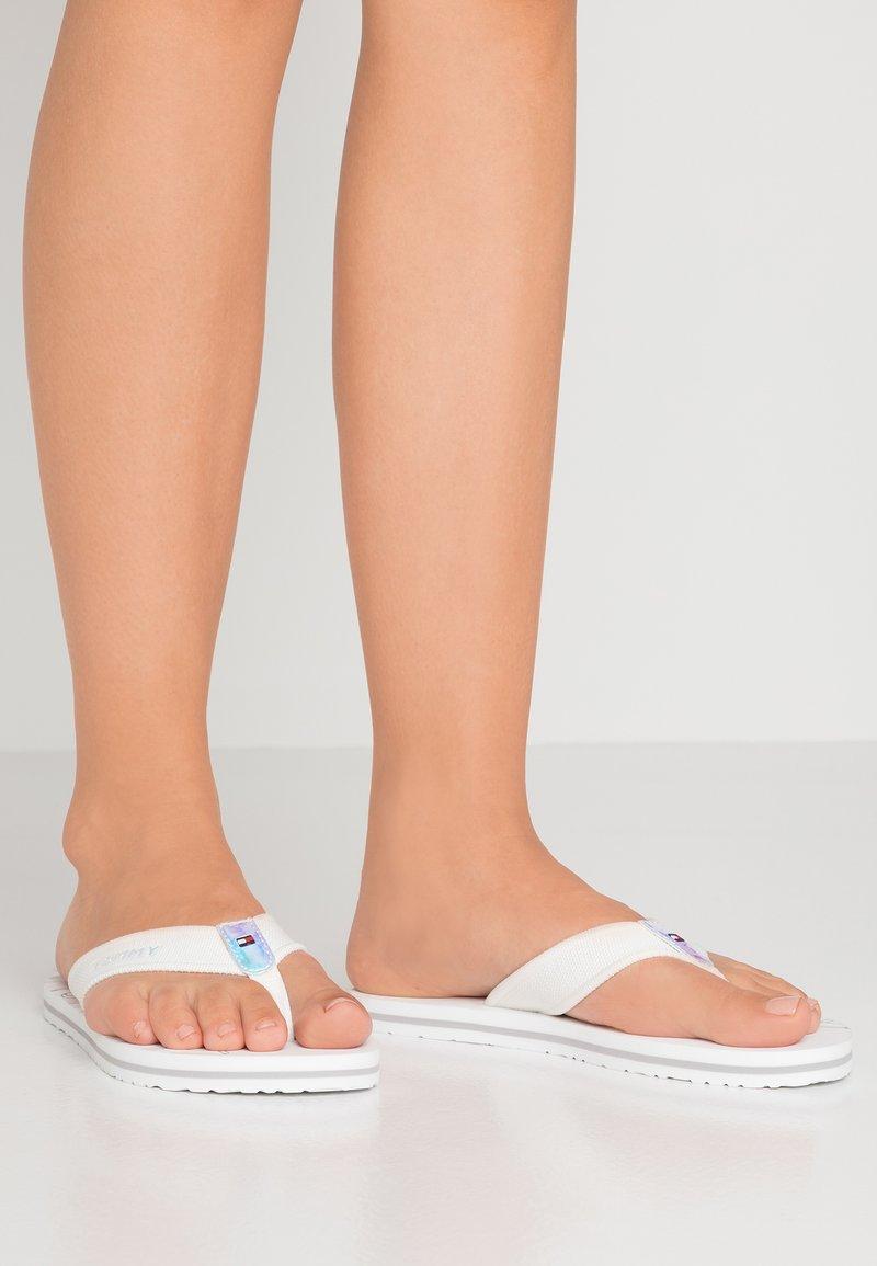 Tommy Hilfiger - IRIDESCENT DETAIL BEACH  - T-bar sandals - white