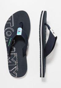 Tommy Hilfiger - IRIDESCENT DETAIL BEACH  - Sandály s odděleným palcem - blue - 3