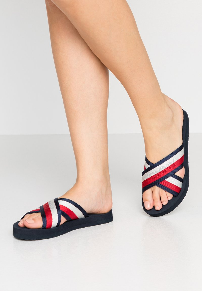 Tommy Hilfiger - COLORFUL SLIDE - Mules - red