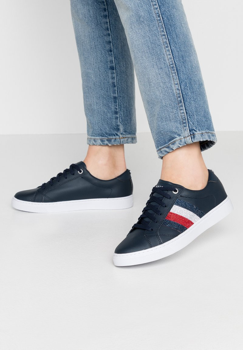 Tommy Hilfiger - CRYSTAL LEATHER CASUAL  - Sneakers - blue