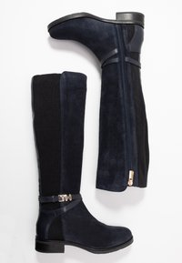 Tommy Hilfiger - TH HARDWARE MIX LONGBOOT - Boots - blue - 3