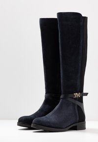 Tommy Hilfiger - TH HARDWARE MIX LONGBOOT - Boots - blue - 4