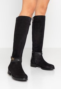 Tommy Hilfiger - TH HARDWARE MIX LONGBOOT - Kozaki - black - 0