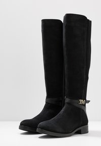 Tommy Hilfiger - TH HARDWARE MIX LONGBOOT - Kozaki - black - 4