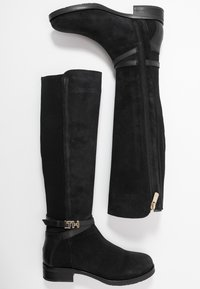 Tommy Hilfiger - TH HARDWARE MIX LONGBOOT - Kozaki - black
