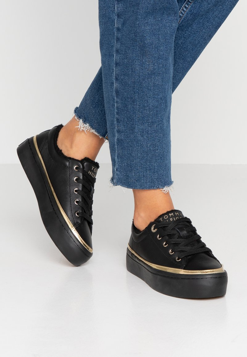 Tommy Hilfiger - COSY LACE - Trainers - black