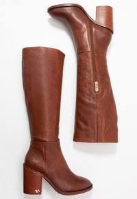 Tommy Hilfiger - MONO COLOR LONGBOOT - High heeled boots - brown - 3
