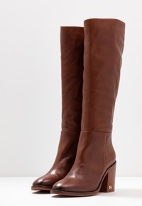 Tommy Hilfiger - MONO COLOR LONGBOOT - High heeled boots - brown - 4