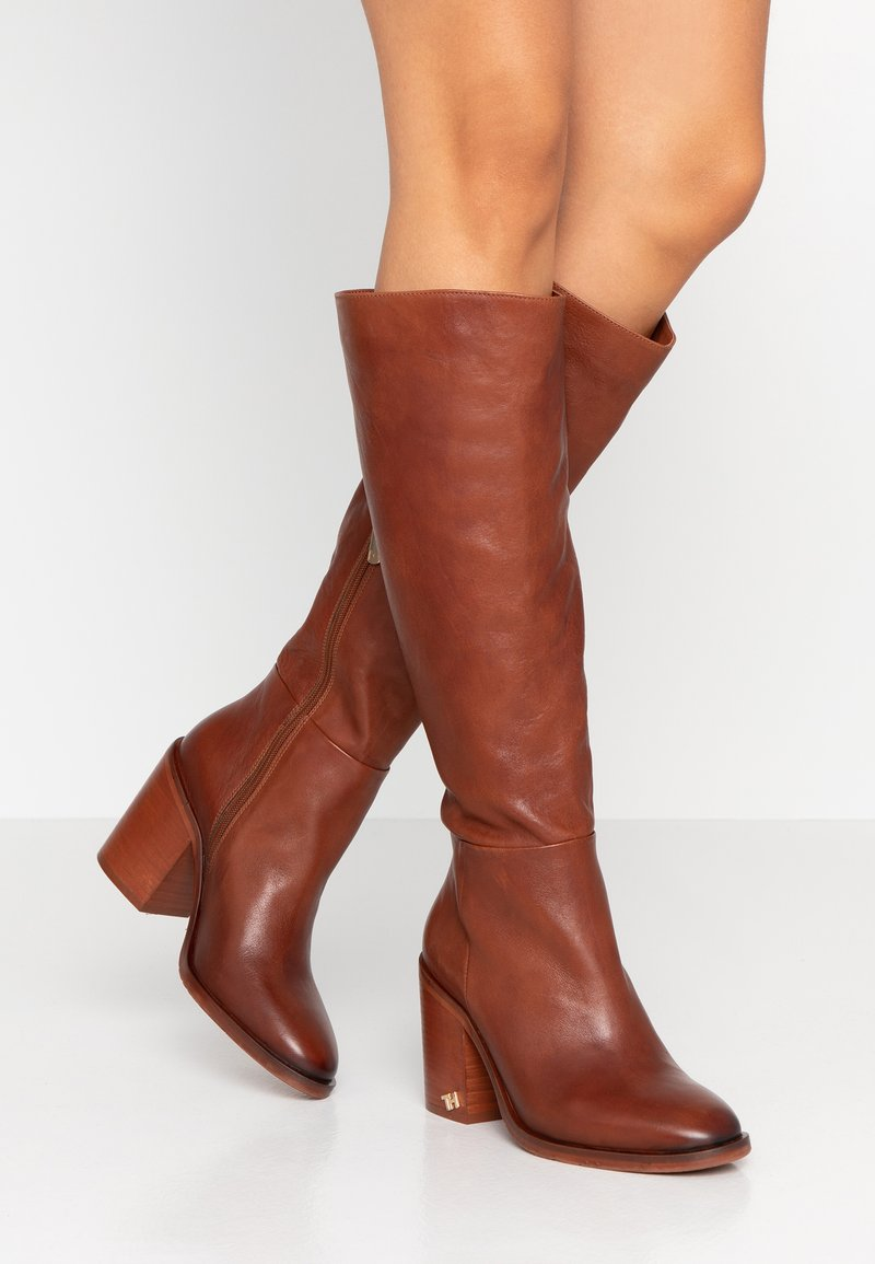 Tommy Hilfiger - MONO COLOR LONGBOOT - High heeled boots - brown