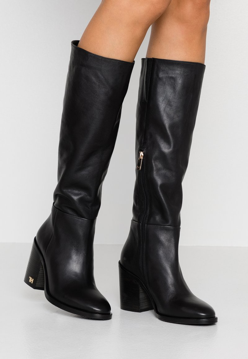 Tommy Hilfiger - MONO COLOR LONGBOOT - High heeled boots - black