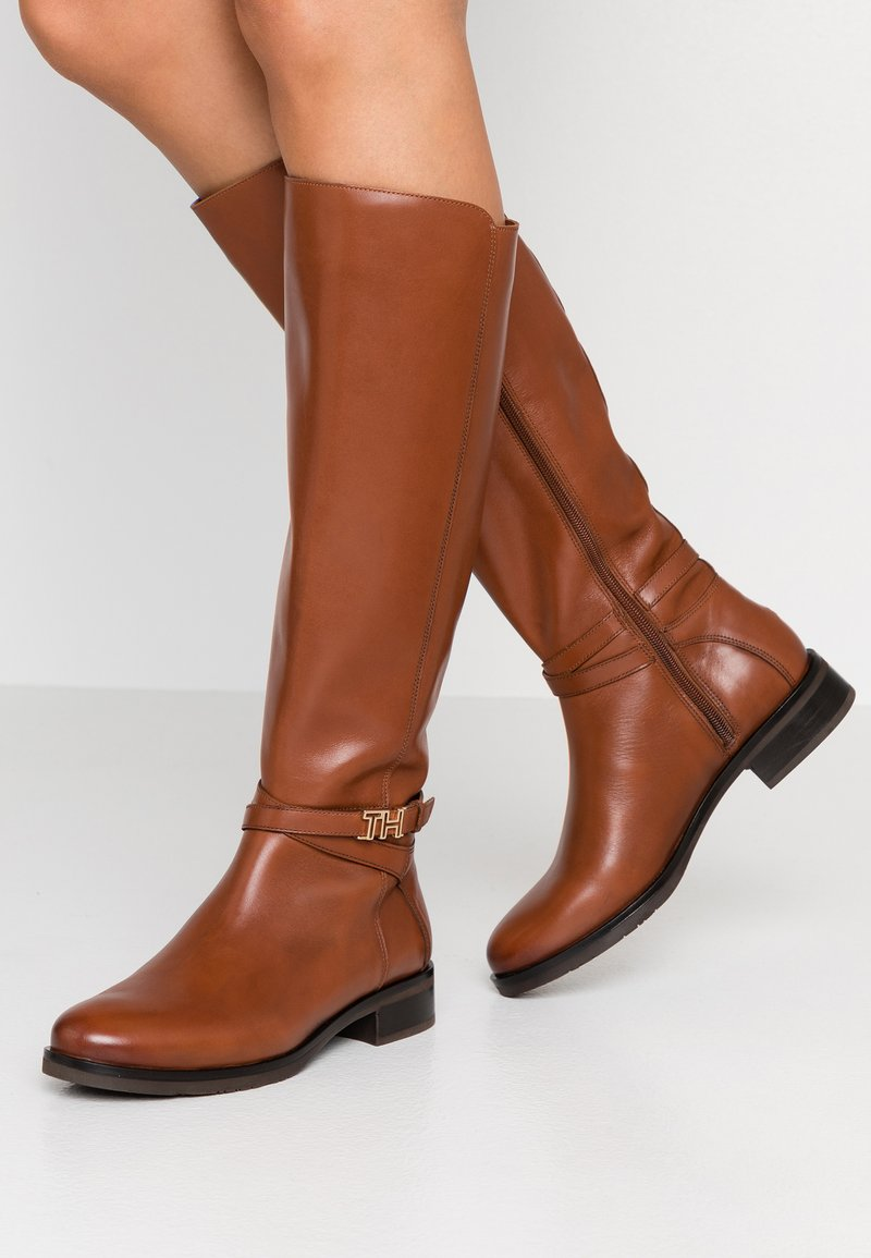 Tommy Hilfiger - TH HARDWARE LONGBOOT - Boots - brown