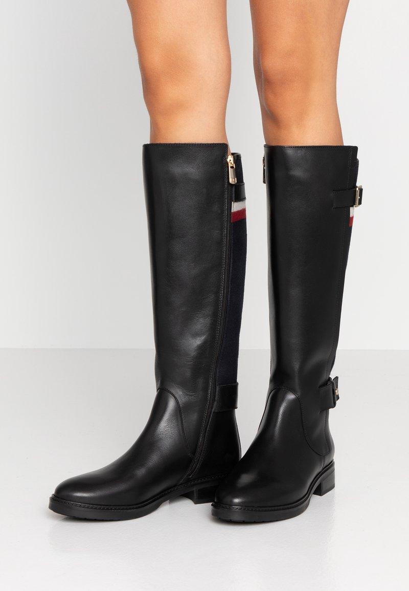 Tommy Hilfiger - MODERN BLANKET LONGBOOT - Boots - black