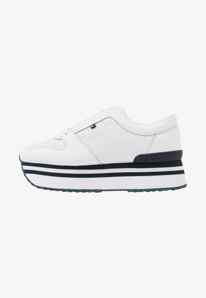 TOMMY JACQUARD FLATFORM SNEAKER - Sneakers - white