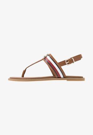 JULIA 93A - T-bar sandals - summer cognac