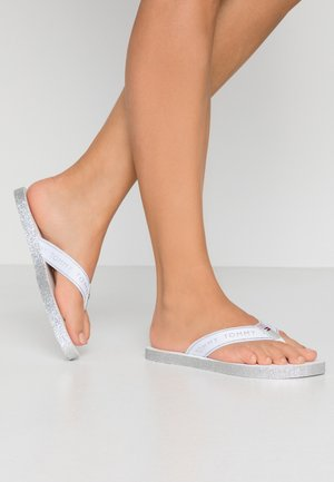 MYRA  - T-bar sandals - white